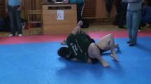 SGL Öst 090322 Nybörjare -77kg Daniel Rosendahl EGAK vs Sebastian Lazo MMA Västerås